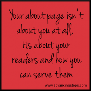 Your About Page Isn't About You