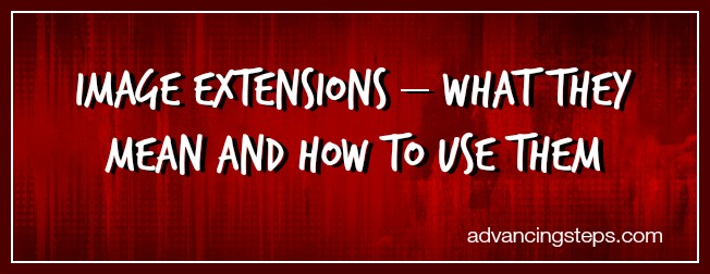 Image Extensions - What They Mean and How to Use Them