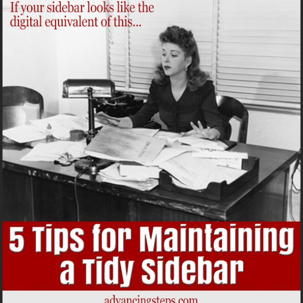 5 Ways to Clear Sidebar Clutter