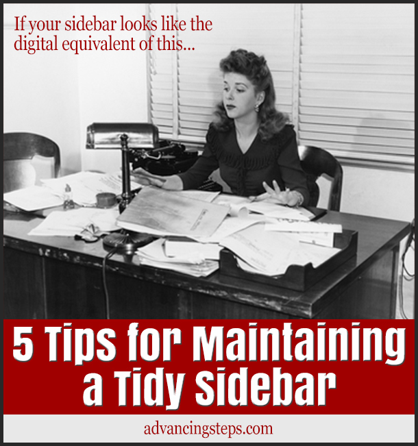 5 Tips for Maintaining a Tidy Sidebar-102714